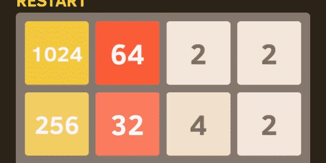 2048 Oyununda her oyunda 2048 nasıl yapılır? 1