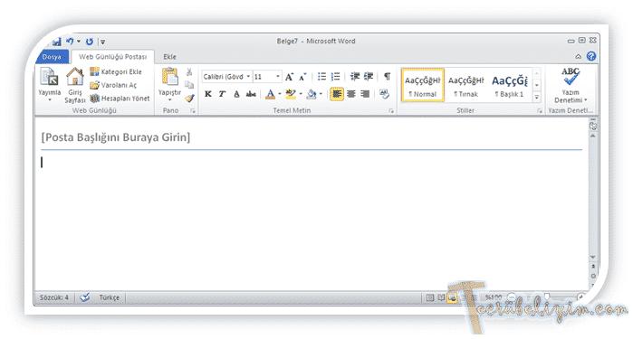 Microsoft Word İle Wordpress Günlüğümüze Makale Ekleme 7