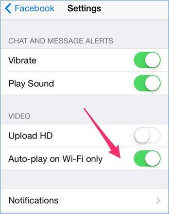 Facebook Otomatik Oynatılan Video Özelliğini Kapatma 8