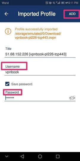 Kullanıcı adı ve şifreyi giriyoruz