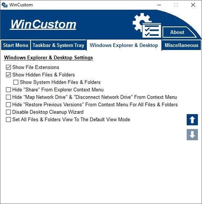 WinCustom bedava yazılım ile Windows da çeşitli ayarları hızlıca yapın 5