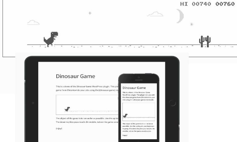 Google Chrome Dinozor Oyunu 1